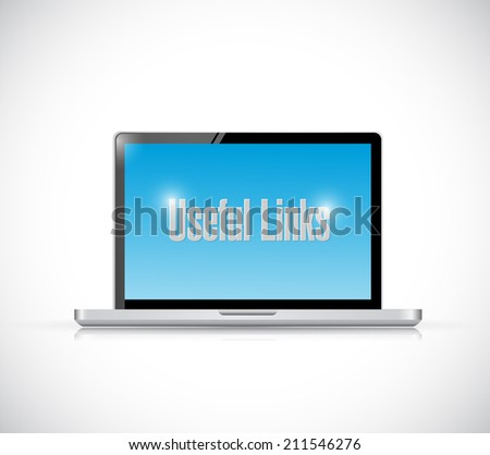 laptop useful links illustration design over a white background - stock photo