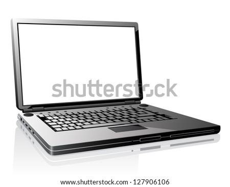 Laptop. Vector version also available in gallery.