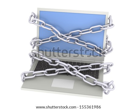 Laptop with chain