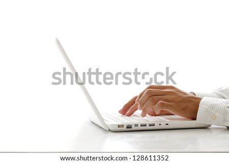 Laptop, work, keyboard - stock photo