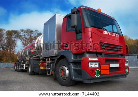 large airport refueling truck