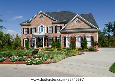 Large american house exterior - stock photo
