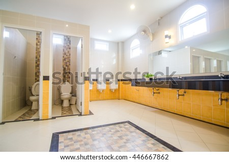 large bathroom interior in luxury home with two sink - Inside Luxury Homes Bathroom