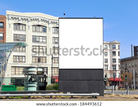Large billboard in the city - stock photo