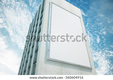 Large billboard on a building wall, mock up - stock photo