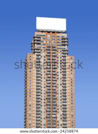 Large billboard on a skyscraper - stock photo