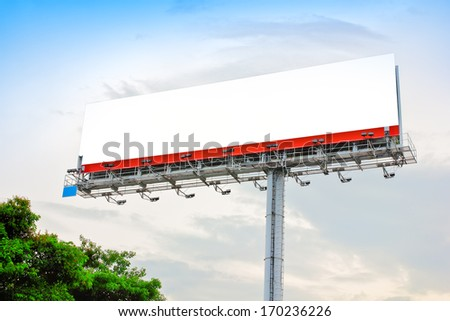 Large billboard on the main road superhighway