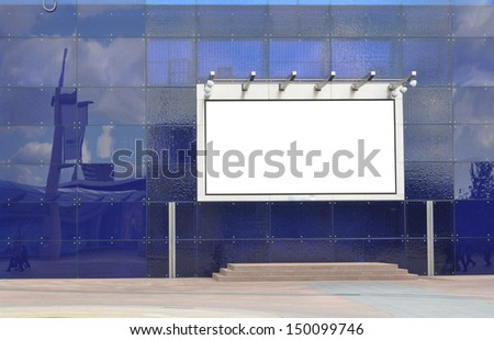 Large blank signboard for your advertisement or graphic design - stock photo