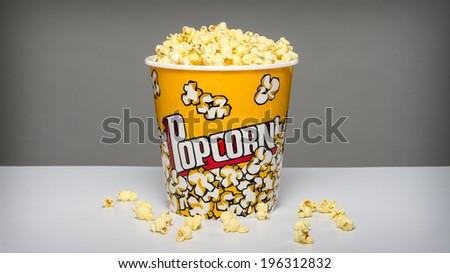 large bowl of popcorn - stock photo