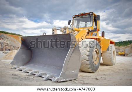 Large bulldozer at construction site