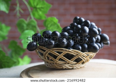 Large bunch of red wine grapes - stock photo