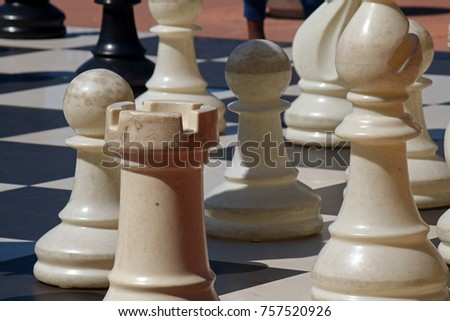 LARGE CHESS PIECES FOR PUBLIC PLAYING