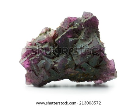Large chunk of deep Purple Fluorite with Cubic texture - stock photo