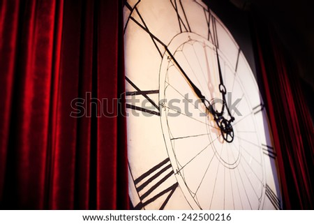 large clock on the wall - stock photo