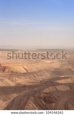large coal mining site at Pingshuo,China