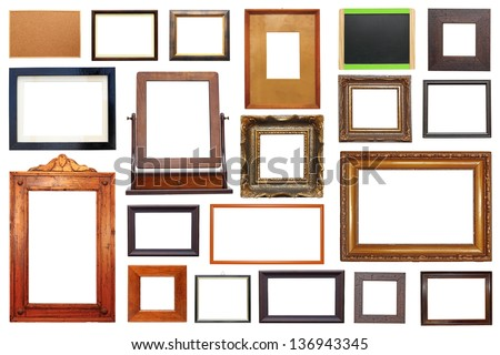 Large Collection Different Types Wooden Frames Stock Photo (Edit Now ...