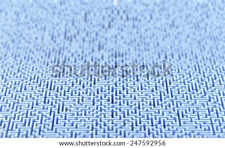 Large 3d maze background. High quality 3d illustration - stock photo