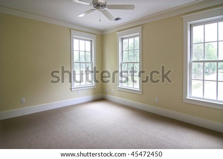 large empty bedroom, place your own furniture - stock photo
