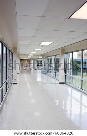 Large empty hallway - stock photo
