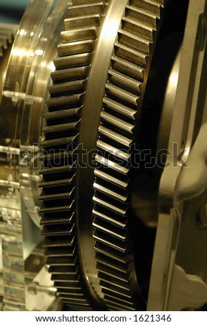 Large engineering cogs. - stock photo