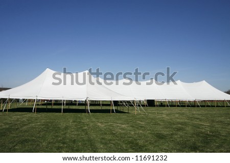 large event tents - stock photo