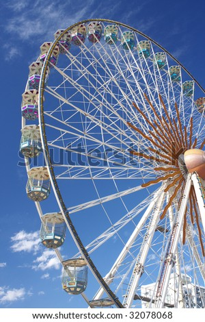 large ferris wheel - stock photo