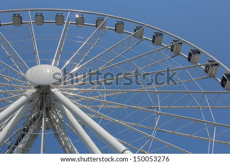 Large Ferris Wheel at Seattle, Washington - stock photo