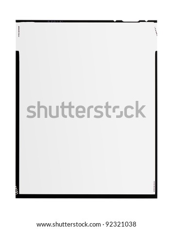large format film, isolated on white - stock photo