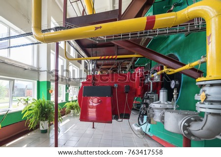 Large Gas Boilers Modern Industrial Boiler Stock Photo (Royalty Free ...