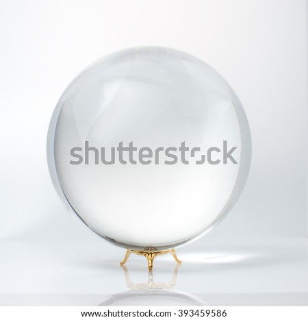 large glass ball for predictions - stock photo