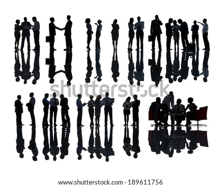 Large Group of Business People Meeting - stock photo