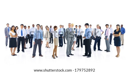 Large Group of Diverse Business People - stock photo