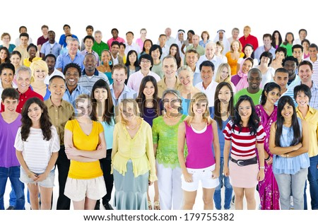 Large Group of Diverse Multi Ethnic World People - stock photo