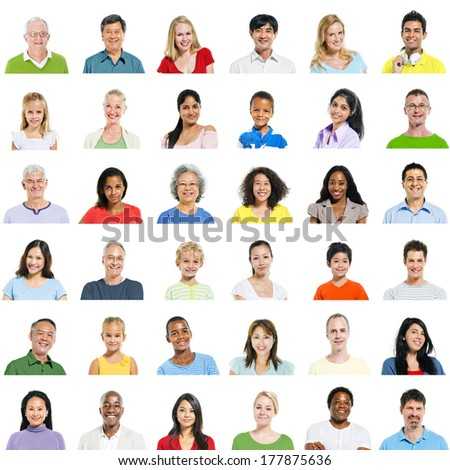 Large Group of Diverse People - stock photo