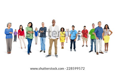 Large Group of People - stock photo