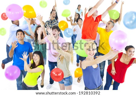 Large Group of People Celebrating