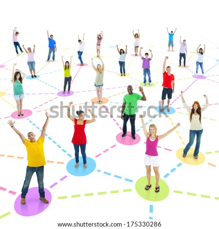 Large Group of Social Network - stock photo