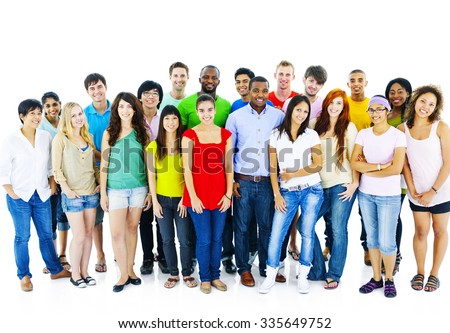 large Group of Student Community People Concept - stock photo