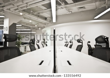 Large modern office, no one - stock photo
