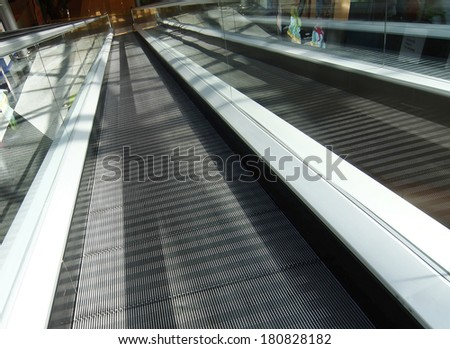 large modern perspective escalators