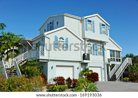 Large New Beach House - stock photo