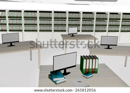 Large office - stock photo