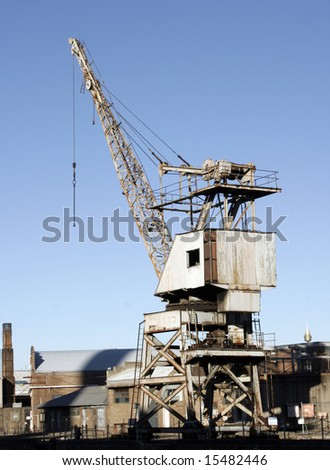 Large old industrial crane