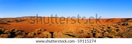Large panorama of Australian Flinders ranges - stock photo