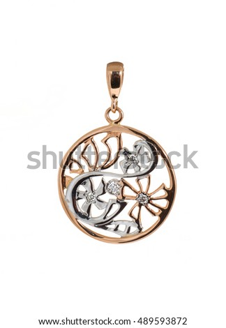 Large pendant isolated on white background