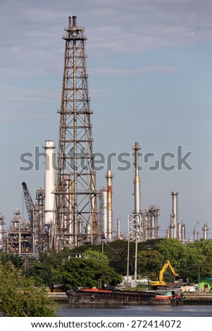 Large petrol refinery factory in Bangkok, Thailand