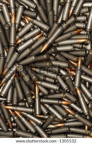 Large Pile of Bullets - stock photo