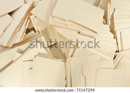 Large pile of Legal File Folders - stock photo