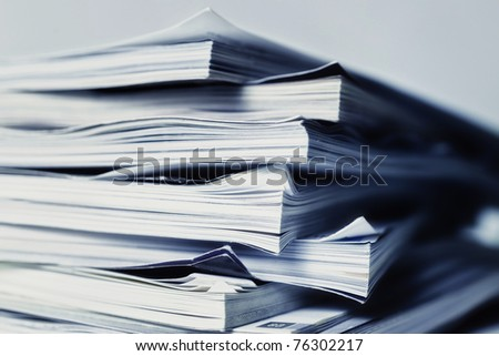 large pile of magazine closeup - stock photo