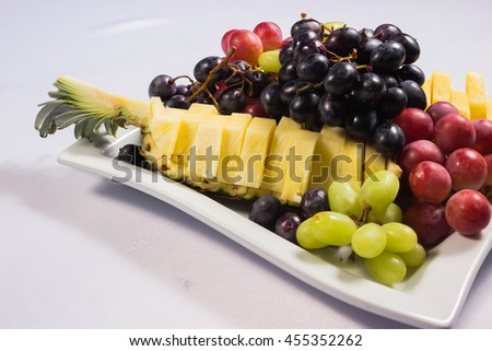 large plate of fruit